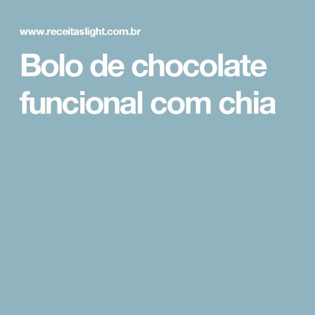 Bolo de chocolate funcional com chia