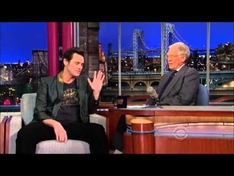 Source of my childhood comedy - Jim Carrey on David Letterman [13 March, 2013]