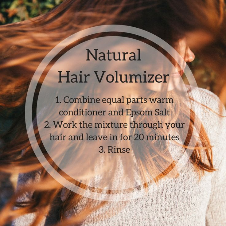 Need a little extra oomph? Try this super easy hair volumizer using Epsom Salt and your favorite conditioner. #hair #natural #volume