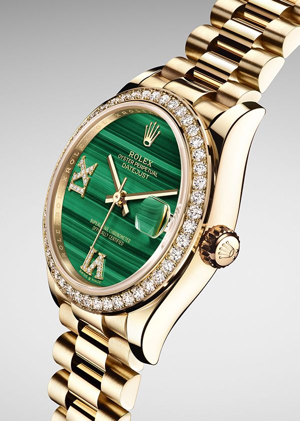The new Rolex Datejust 31 in 18ct yellow gold features a