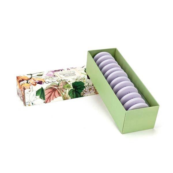 ORCHIDS IN BLOOM Guest Soap Set Están hechos de aceite de palma vegetal puro y enriquecido con mantequilla de karité humectante para mantener la piel suave y flexible.