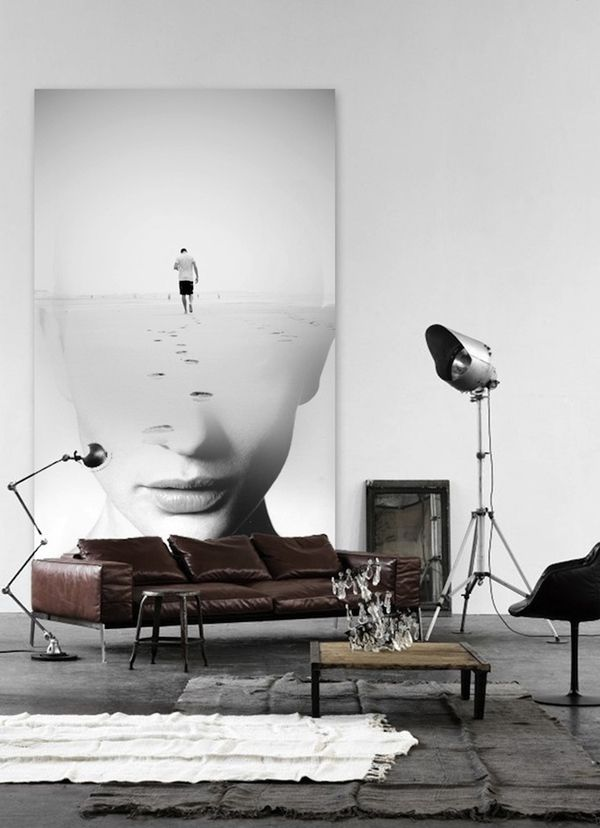 ♂ Masculine & contemporary interior living room space