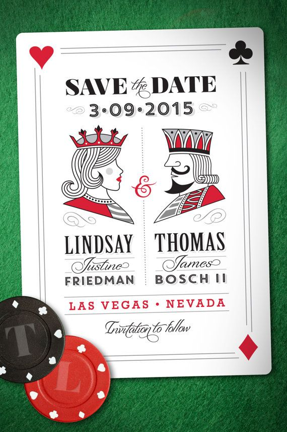 Wedding Save the Date Vegas Style Customizable / by LINandTOM