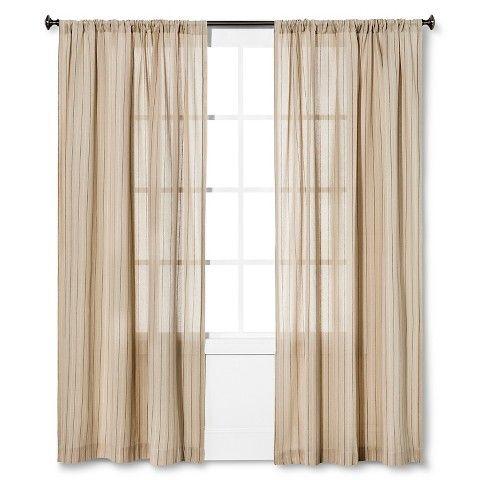 Nate Berkus™ Pinstripe Curtain Panel - Target