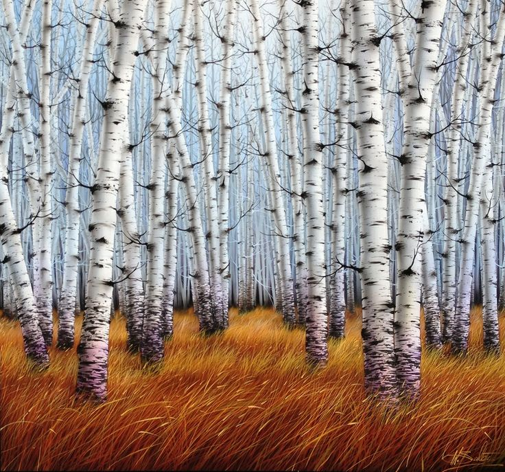 """Warren Salter  painting """"Dream Forest"""" acrylic oil on canvas. Red Hill Gallery, Brisbane. redhillgallery.com.au"""