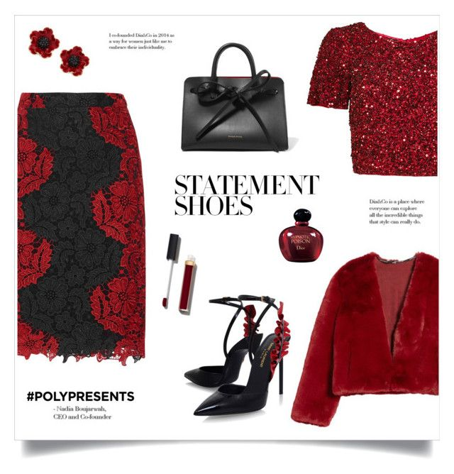 """Statement Shoes!"" by diane1234 ❤ liked on Polyvore featuring Alice + Olivia, Somedays Lovin, Parker, Yves Saint Laurent, Kate Spade, Mansur Gavriel, Christian Dior, Chanel, contestentry and statementshoes"