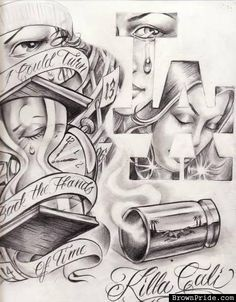 arte more tattoo ideas lowrider chicano art killa cali chicano tattoo ...