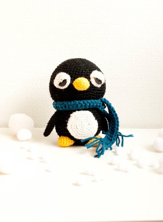 Amigurumi penguin pattern crochet soft toy pattern