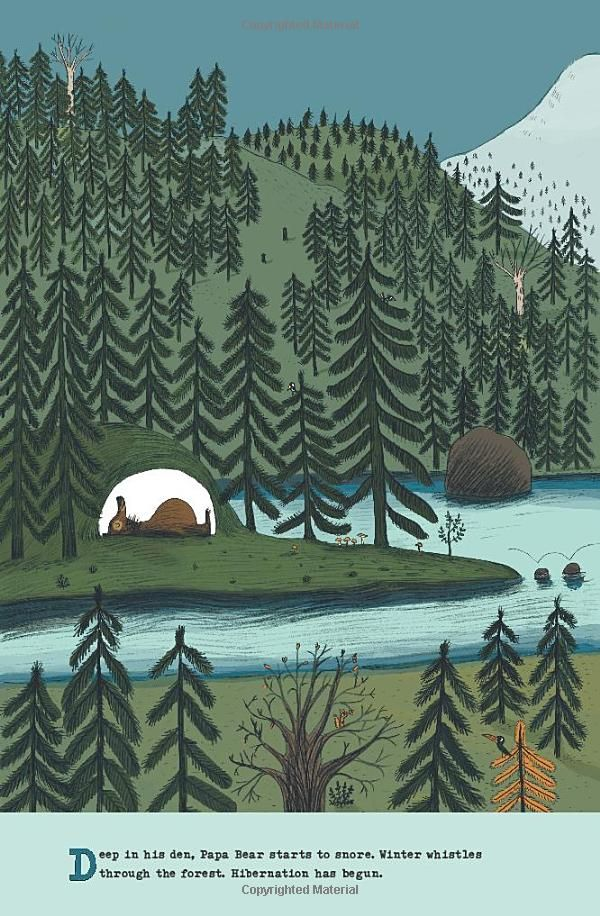 The Bear's Song: Benjamin Chaud:  Amazon.com: Books #illustration #Children'sBook Hibernation in the woods
