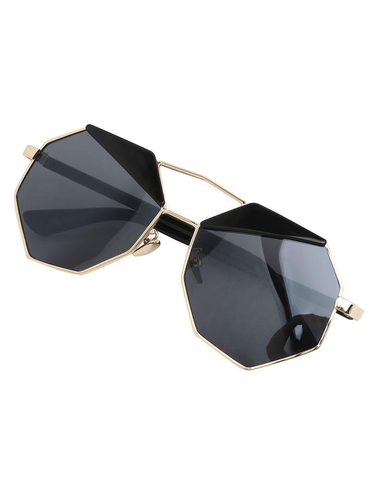 Серые модные солнечные очки