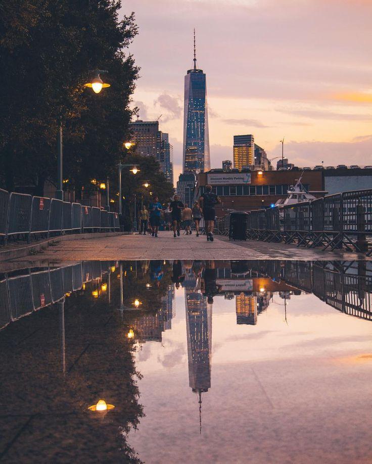 One World Trade Center reflections by @m3iir | newyork newyorkcity newyorkcityfeelings nyc brooklyn queens the bronx staten island manhattan