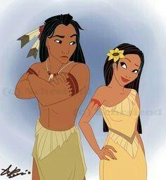 Young Pocahontas & Kocoum