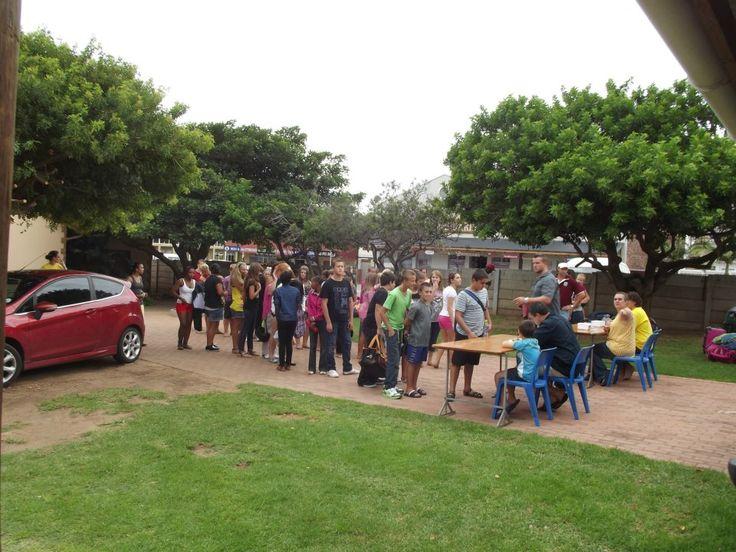 A Grade 7 camp at our Jeffreysbay campsite