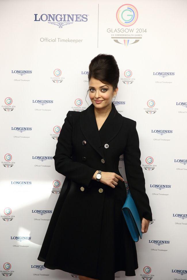 Aishwarya Rai Bachchan, the Longines Ambassadress of Elegance, on the sidelines…