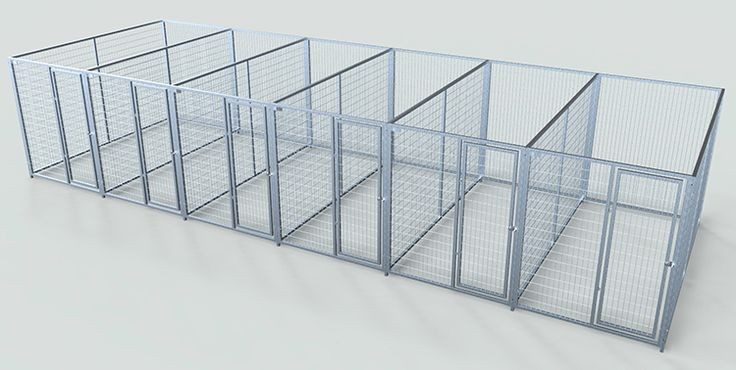 indoor dog kennel plans - Google Search  This is what I want along the longest wall!