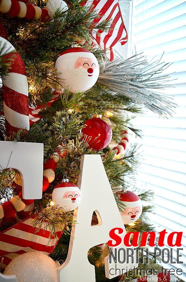 Santa North Pole Christmas Tree and Decorating Ideas!