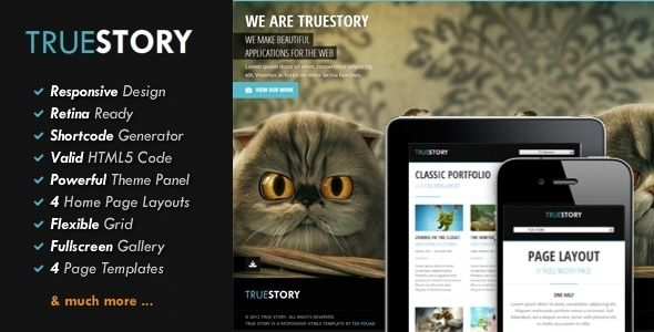 TrueStory - Fullscreen WordPress Theme - Portfolio Creative