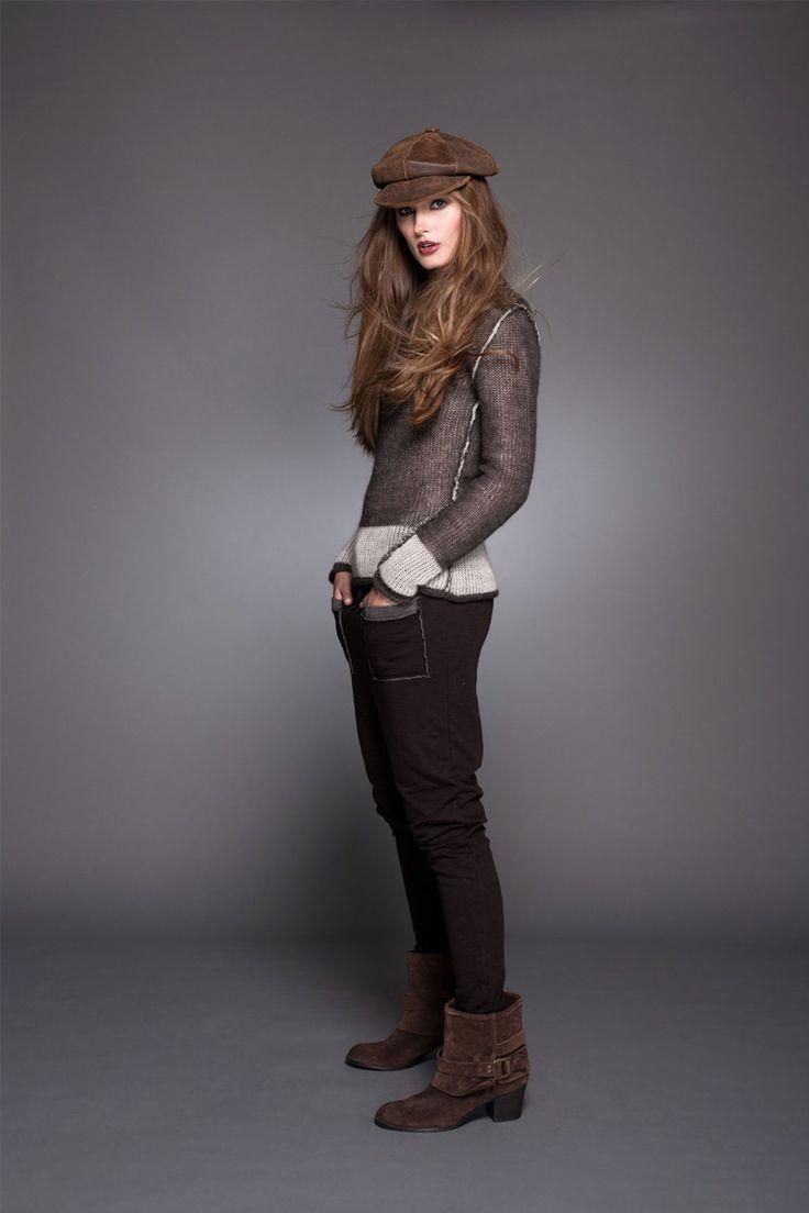 Bello look rescatando la boina! #lineatre #boina #sweater #moda #pantalones