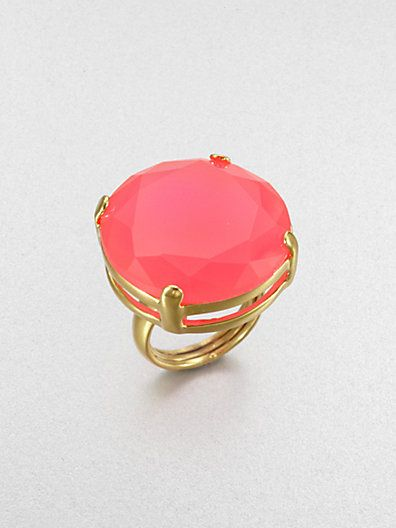 Add a little pink to your summer wardrobe! Love this pink Kate Spade cocktail ring