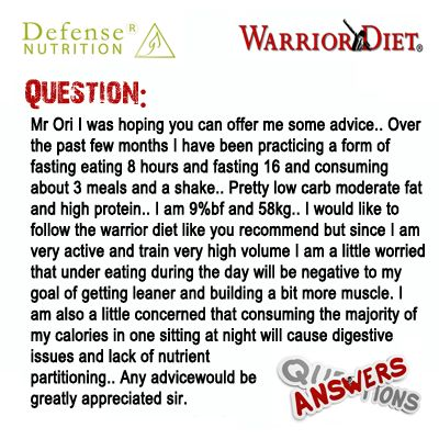 How to Start the Warrior Diet