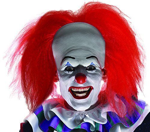 Adult Scary IT Clown Pennywise Wig Multicolor One Size Halloween Men's Costume #Rubies