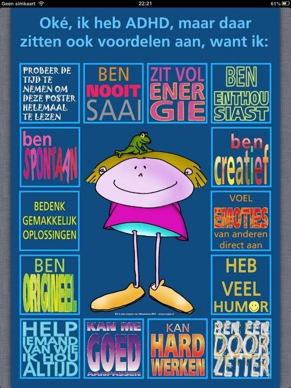 Jamaar IK heb ADHD! Lees dan deze poster;)