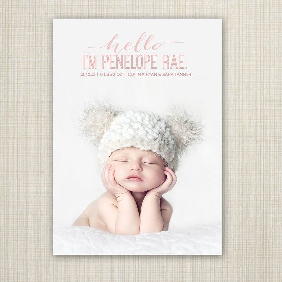 17 Best ideas about Baby Girl Announcement – Announcement of Baby Girl