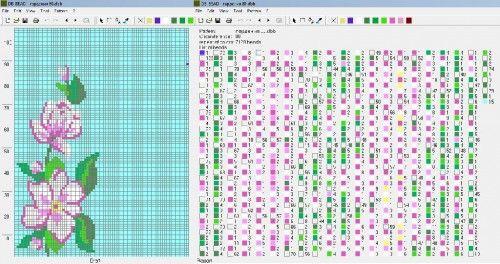 Флора : формат dbb и jbb : Схемы для вязаных чехлов для телефонов и сумочек : Файлы : jbead