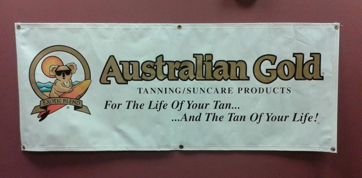 Australian Gold Lotion Banner for the Tanning Salon #AustralianGold #Doeapply