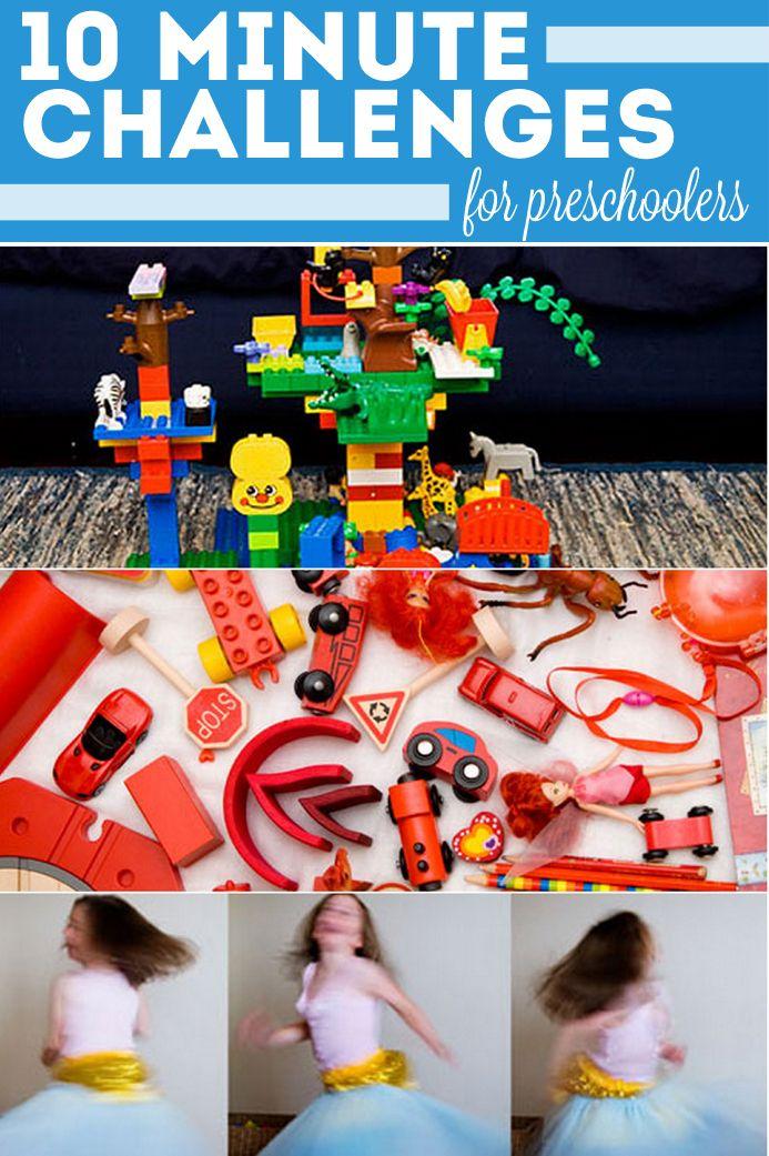 10 Ten-Minute Challenges for Preschoolers <-love these!