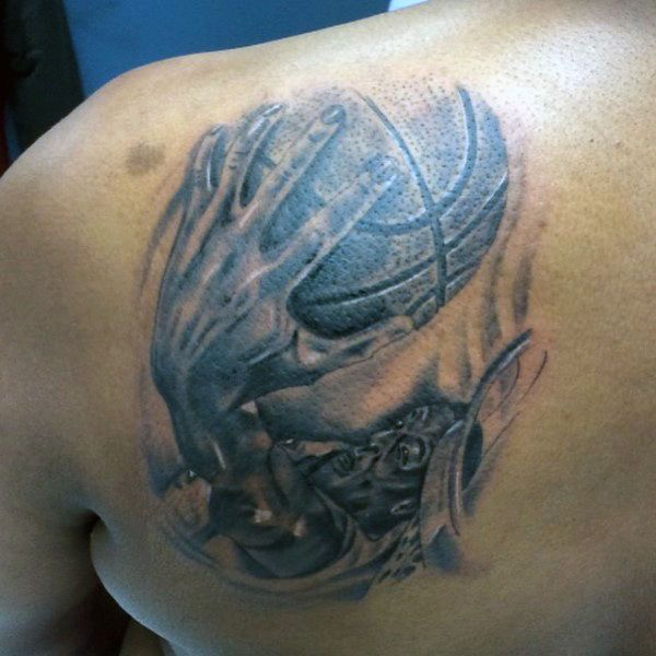 Basketball Chest Tattoos: 44 Best Basketball Tattoo Designs Images On Pinterest