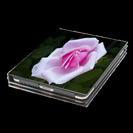 Rose --A single rose on an iPad case. Handcrafted in San Francisco, this #iPadcase features photography by Barbara Alper.  #iPadcover