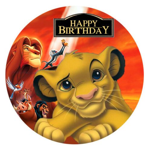 The Lion King Simba Personalised Edible Image REAL Icing Large Cake Topper  in 2019  8e4a00a57