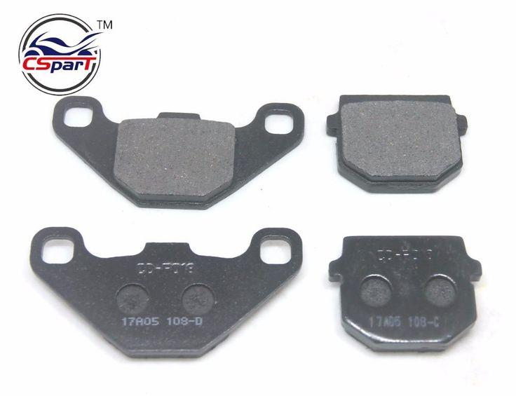 2 Pairs Semi-metallic non-asbestos REAR FRONT BRAKE PADS 50cc - 250cc ATV Quad Go Kart most chinese Dirt Pit Bike