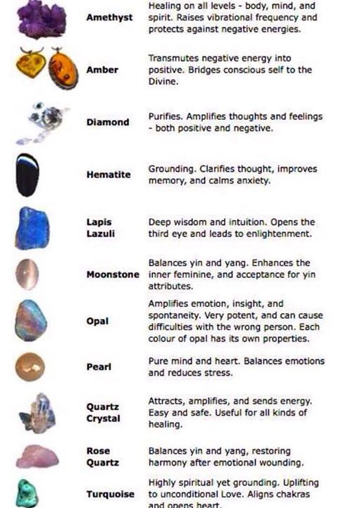 Healing stones and crystals