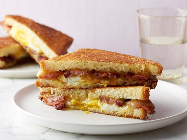 Bacon & Egg Grilled Cheese: Baste bacon in maple syrup for this sweet and smoky sandwich.