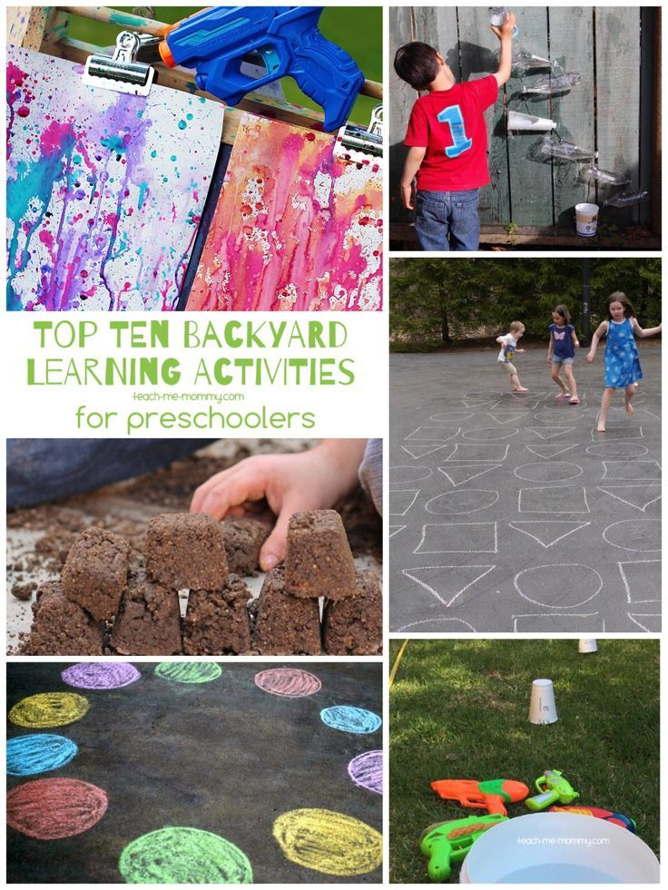 Today I searched for the top 10, that means the coolest, awesomest, most fun learning activities you can have outside, right there in your backyard!   Scavenger huntsare great fun outdoors.Have aABC Letter Hunt,great for letter recognition and burning off energy too! Water guns are fun to use formeasuring activitiesorpaintingwith different colours to explore …