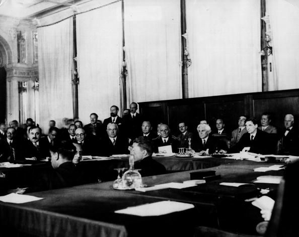 The Successes and Failures of the League of Nations: A 1932 meeting of the League of Nations chaired by Arthur Henderson in Geneva. The League was formed after the end of World War I to solve international disputes.