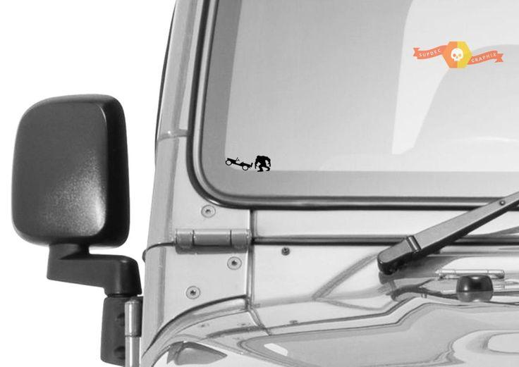 Jeep Windshield Big Foot Sasquatch Sticker Yeti Easter Egg Companion Vinyl Decal In 2020 Car Decals Vinyl Vinyl Decals Vinyl Decal Stickers