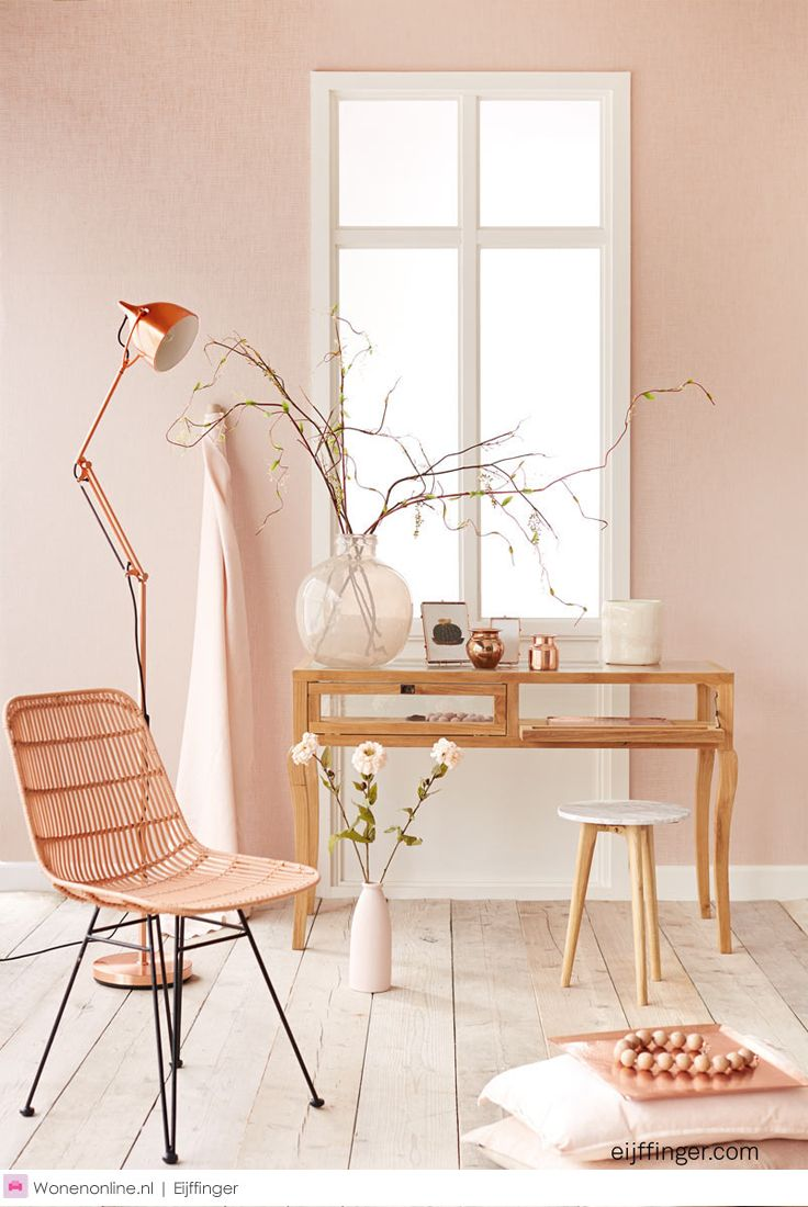 Eijffinger behangcollectie Whisper.  Het poëtische kleurenpalet biedt chardonnay tot poeder roze, amandelbloesem, zeegroen, linnengrijs, koffie, aluminium en koper.  #interieur #interieurdesign #interieurinspiratie #interieurstyling #interior #interiorandhome #interiordesign #interiordesignideas #interiordetails #eijffinger