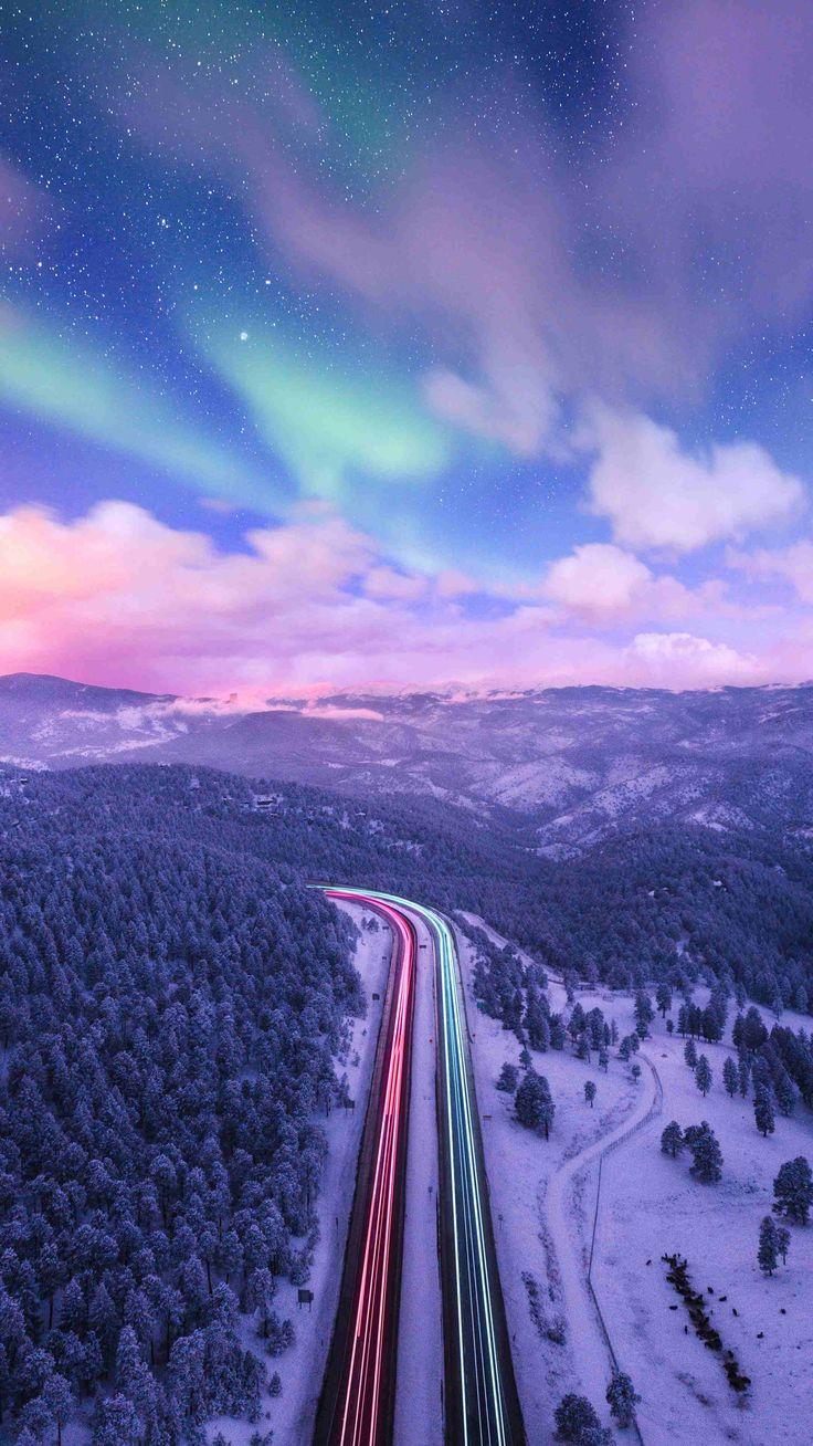 Alaska Nature Nothern Lights Sky iPhone Wallpaper Iphone