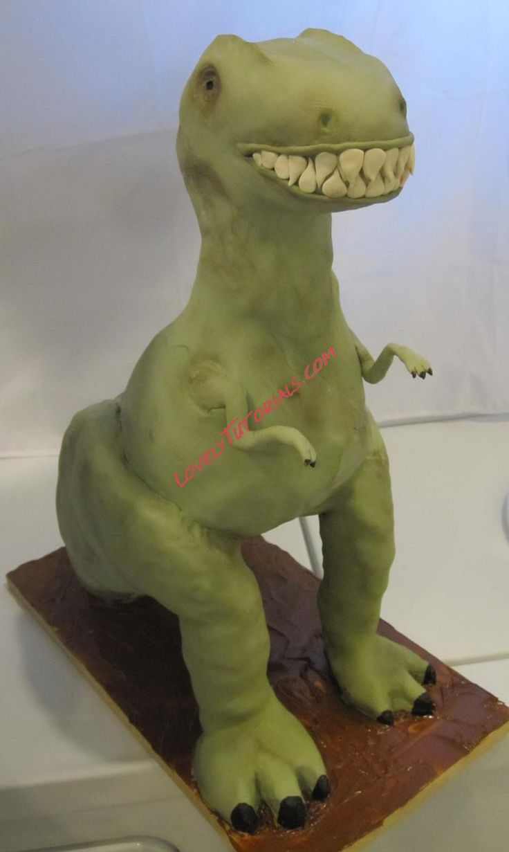 TRex Cake 3D Tutorial TUTORIALS Pinterest 3d Tutorials and Cakes