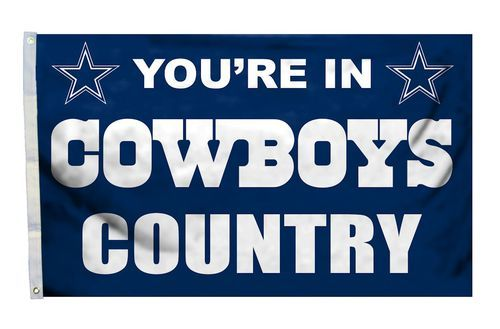 This Dallas Cowboys country design flag will look great flying outdoors or hanging inside the family room, kid's room, or rec room of any fan of NFL team Dallas Cowboys. #dallascowboys #cowboysnation #cowboysflag #cowboysmerchandise Purchase @ http://www.mysportsdecor.com/dallas-cowboys-country-flag.html
