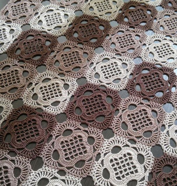 ergahandmade: Crochet Tablecloth + Diagram + Pattern Step By Step