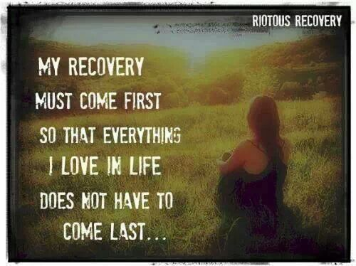 Putting recovery first is non-negotiable. Those who question this truth will invariably put themselves dead last on the list.