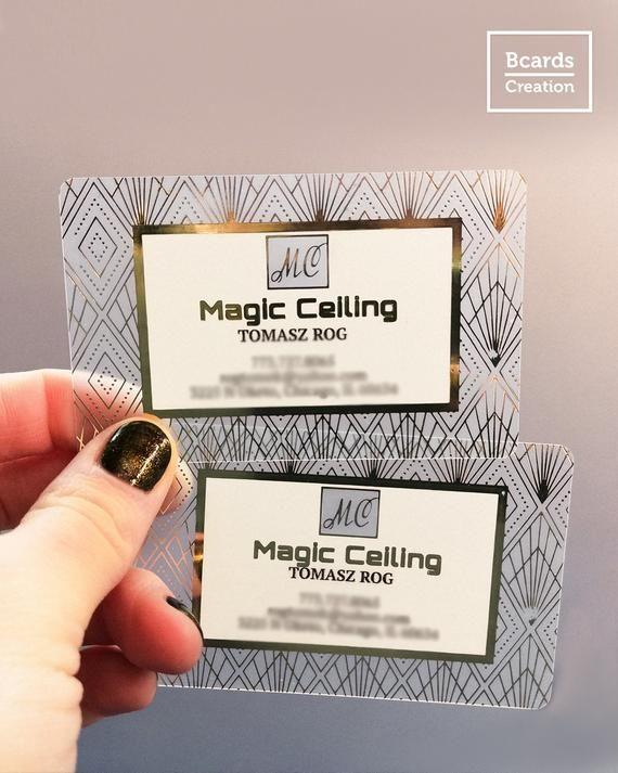 Clear Transparent Plastic Business Cards Full Color Etsy In 2021 Plastic Business Cards Free Business Card Design Plastic Card