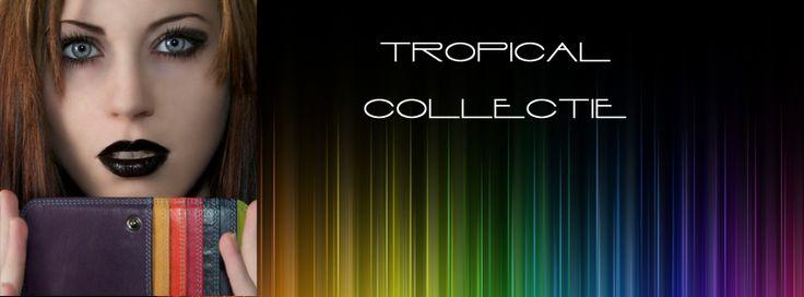 Tropical is de meest populaire collectie van Pia Ries. Met een chique, zwarte buitenkant en tropische kleuren vanbinnen zijn portemonnees super elegant!
