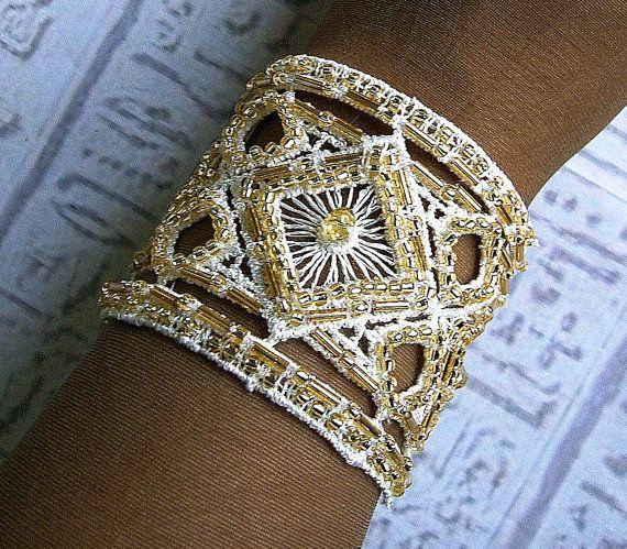 Wedding jewelry Bridal Cuff bracelet in by EgyptianInspirations, $62.00: Egyptian Wedding, Cuffs Bracelets, Bridal Cuffs, Egyptian Bridal, Egyptian Cuffs, Wedding Jewelry, Egyptian Jewelry, Bridal Jewelry, Cuff Bracelets