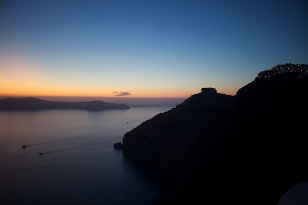 Sunset over the Aegean Horizon
