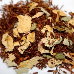Organic Cherry Rose Rooibos | The Path of Tea $8 for 2oz - Excellent combination of cherry, rose and rooibos. Sweet cherry notes tempered with hints of caramel for a clean finish. 2 Ounces Makes Approximately 20 Cups of Tea.